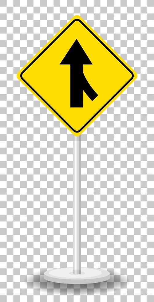 señal amarilla de advertencia de tráfico vector