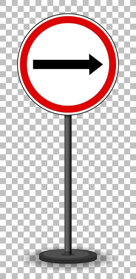 señal de tráfico roja vector