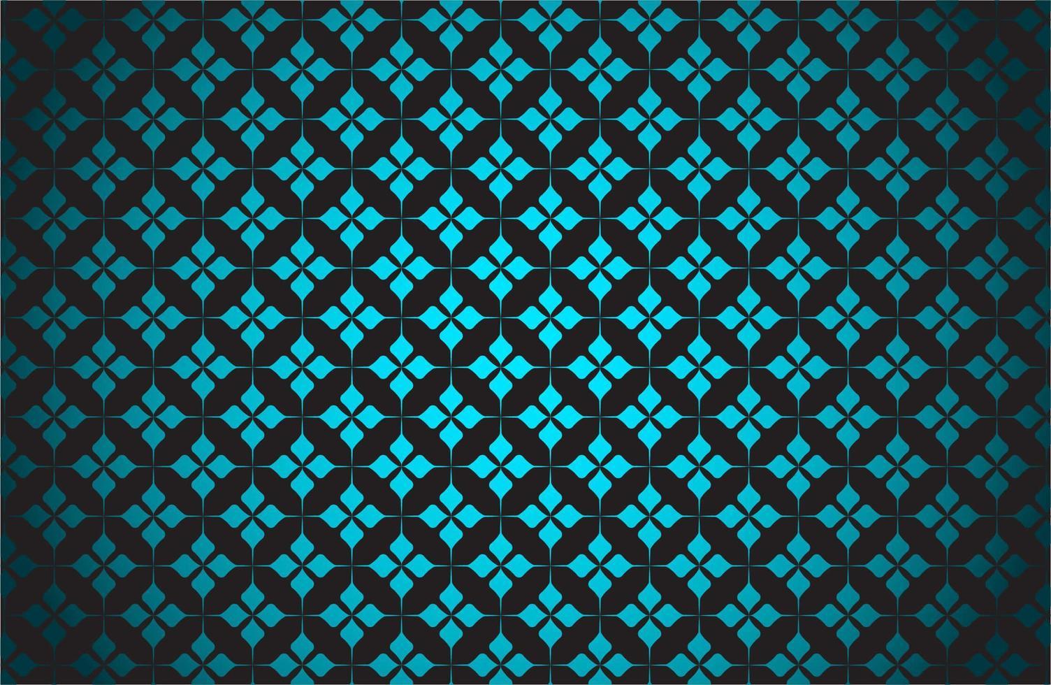 Glowing Blue Star Pattern on Black vector