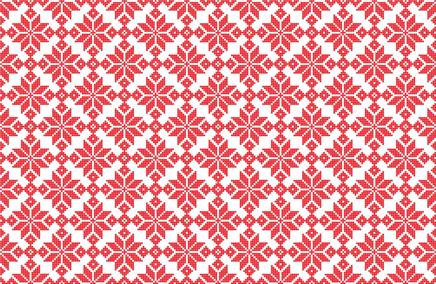 patrón de píxeles de copo de nieve de navidad vector