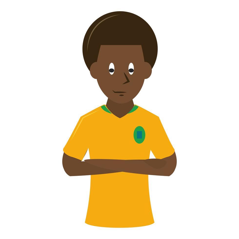 icono de deportes con futbolista vector
