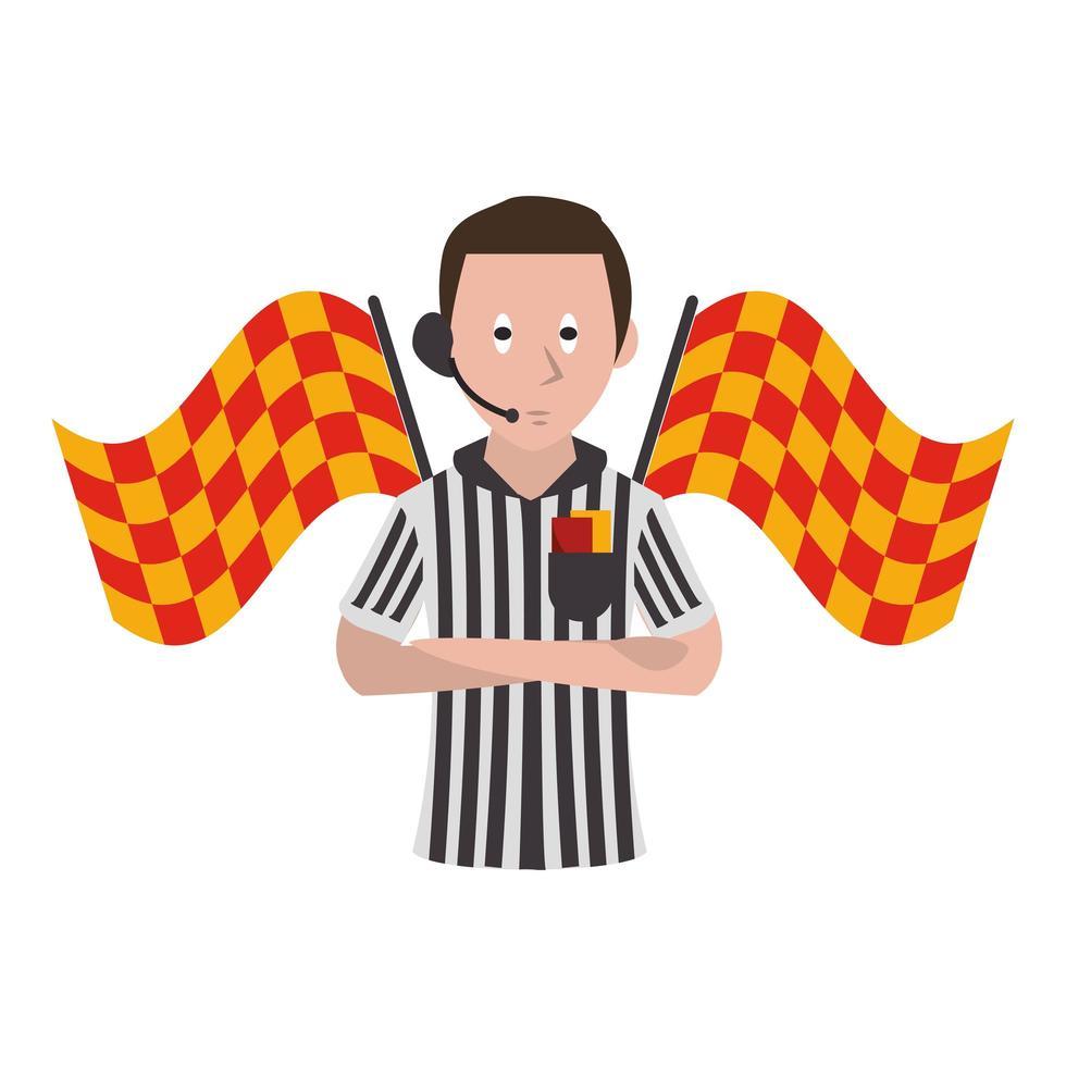 árbitro de fútbol de dibujos animados vector