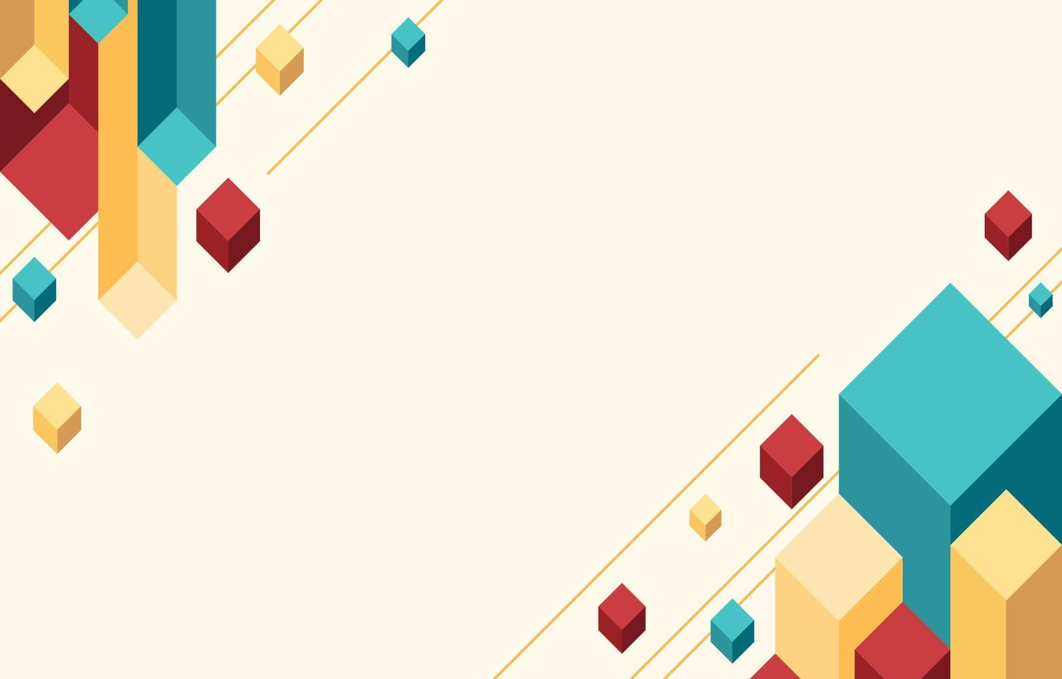 Colourful Geometric Isometric Background vector