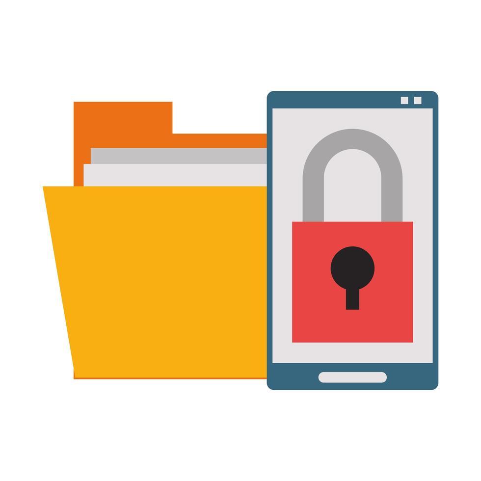 concepto de sistema de seguridad y negocios vector