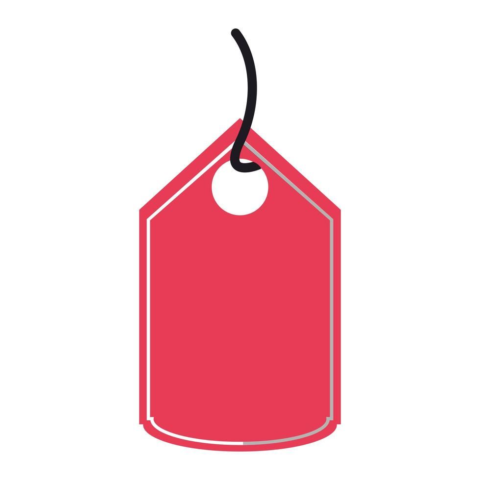 Shopping red tag isolated icon vector