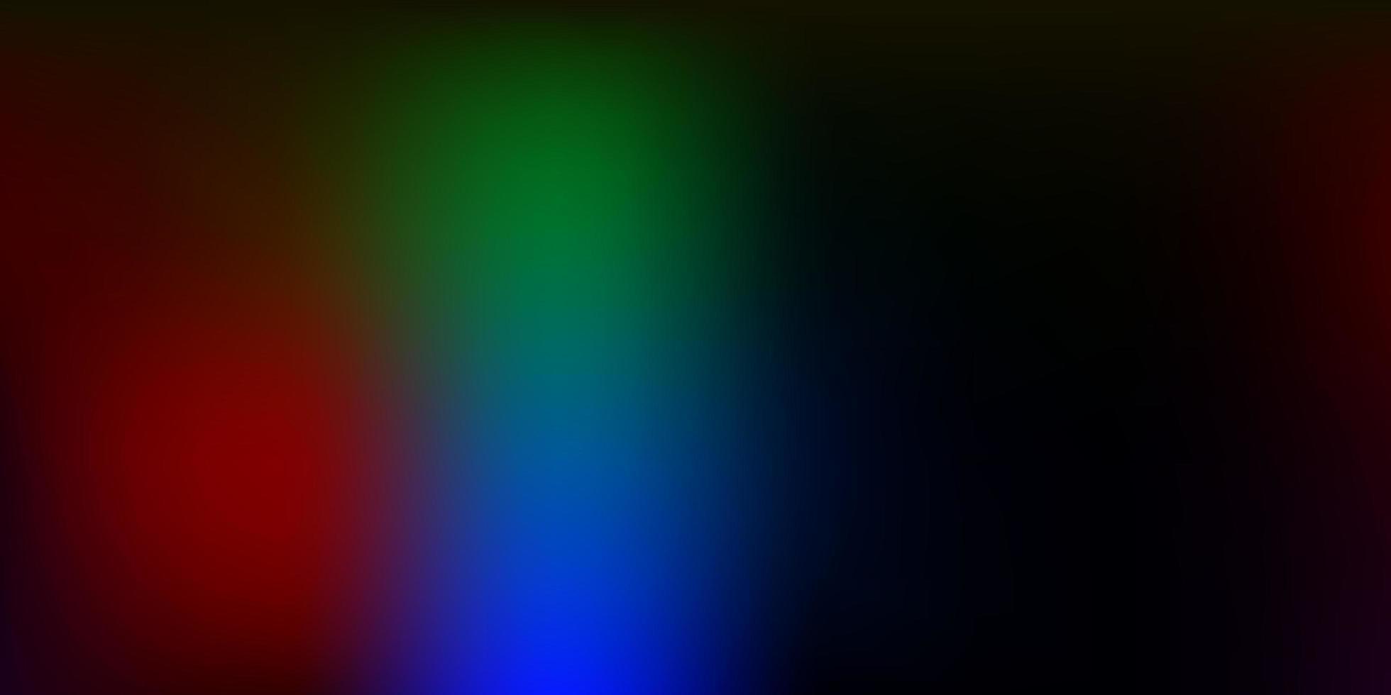 diseño de desenfoque abstracto multicolor oscuro. vector