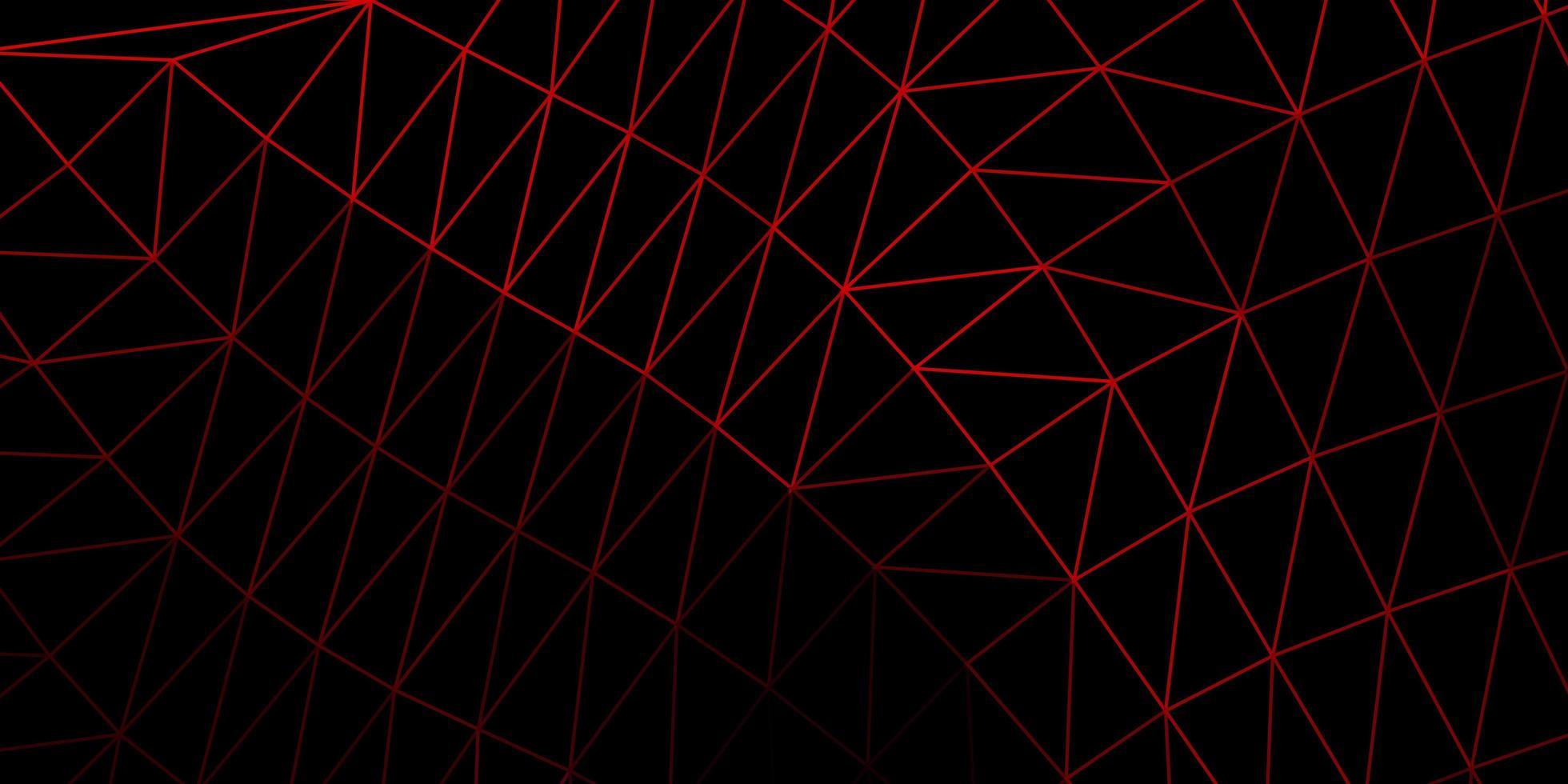 textura de triángulo de poli rojo oscuro. vector