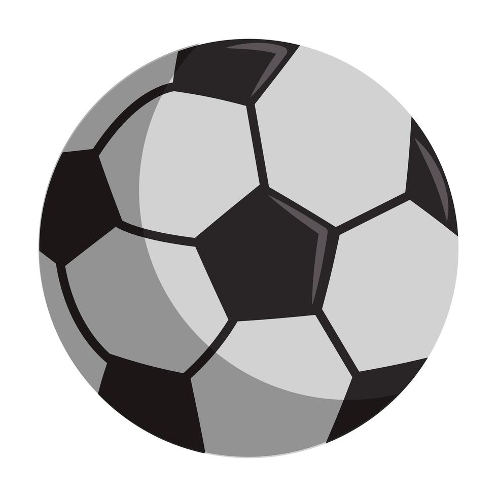 icono aislado de dibujos animados de balón de fútbol vector
