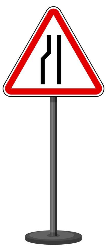 Señal de tráfico roja sobre fondo blanco. vector
