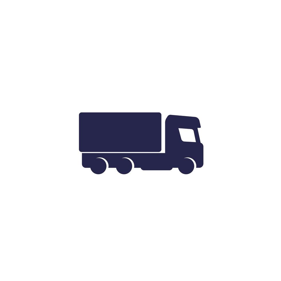 Truck, lorry icon on white vector