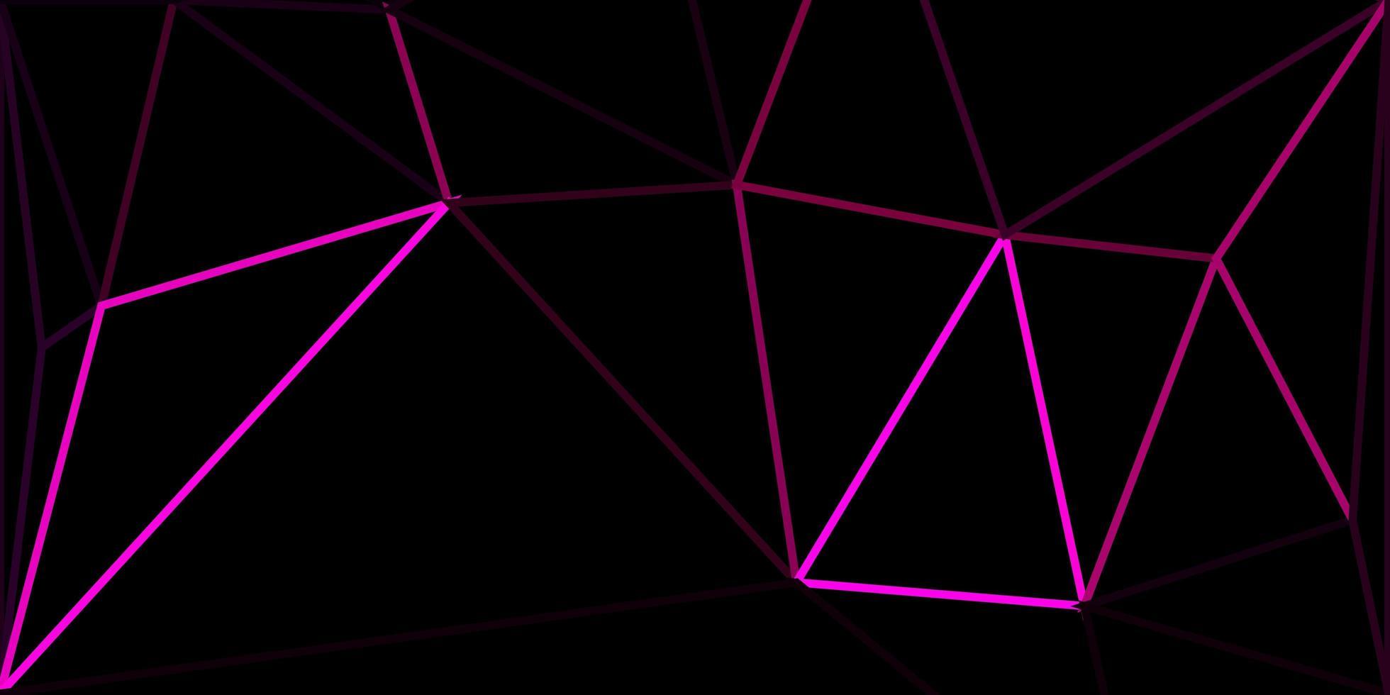 textura de triángulo de poli rosa oscuro vector