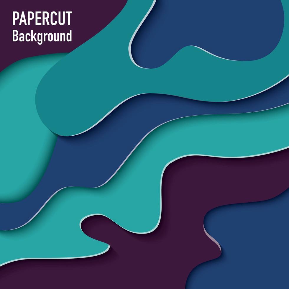 Fondo de papel cortado con efecto 3d vector