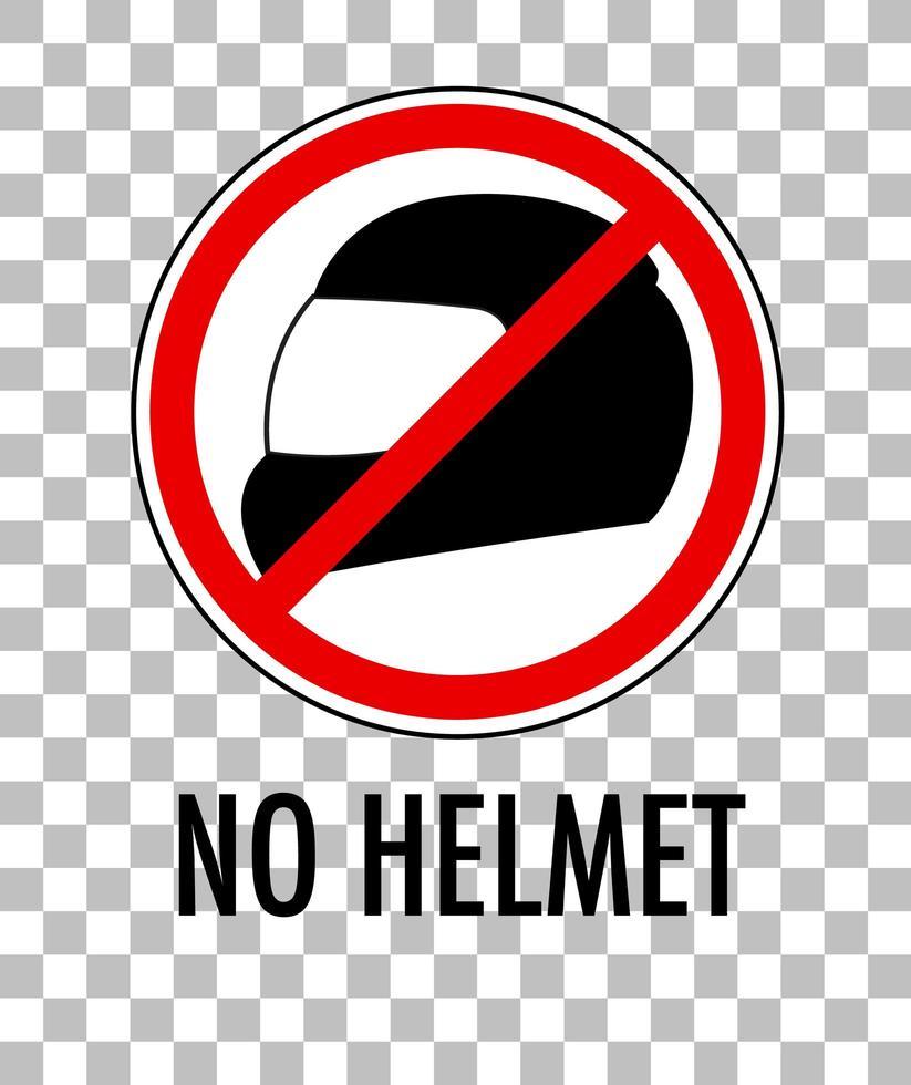 ningún signo de casco aislado sobre fondo transparente vector