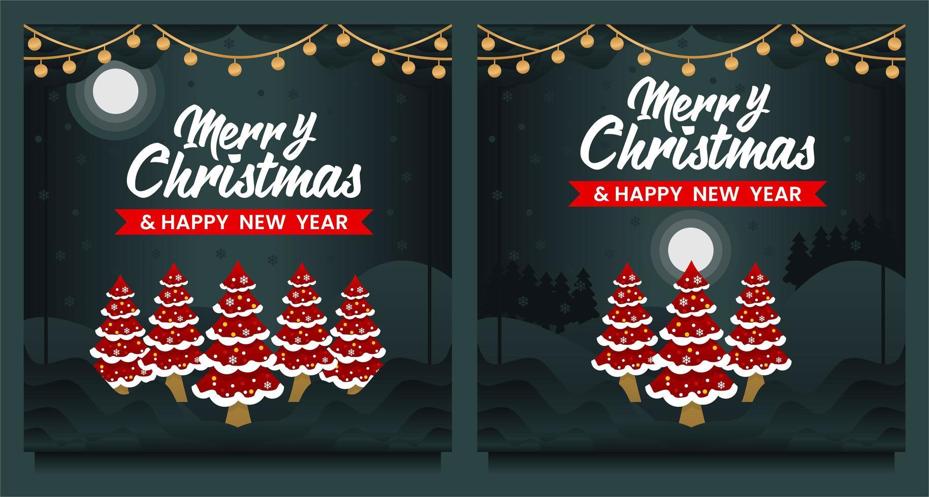 feliz navidad y próspero año nuevo banner vector
