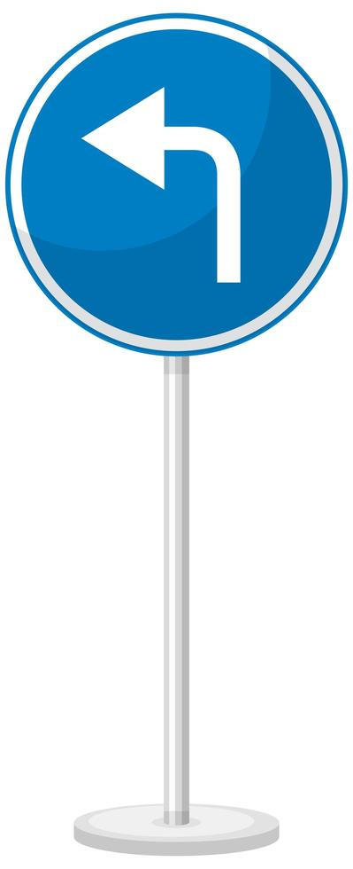 Señal de tráfico azul sobre fondo blanco. vector