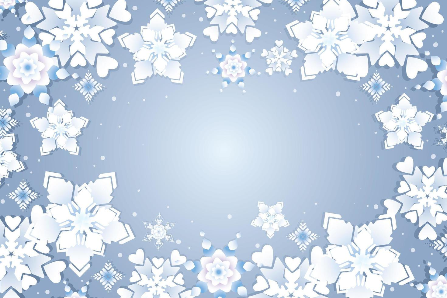 Snowflake with Different Style Variants vector