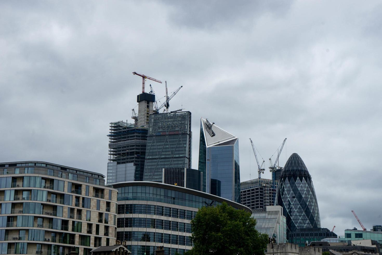 London, England, 2020 - Construction on buildings in the city photo