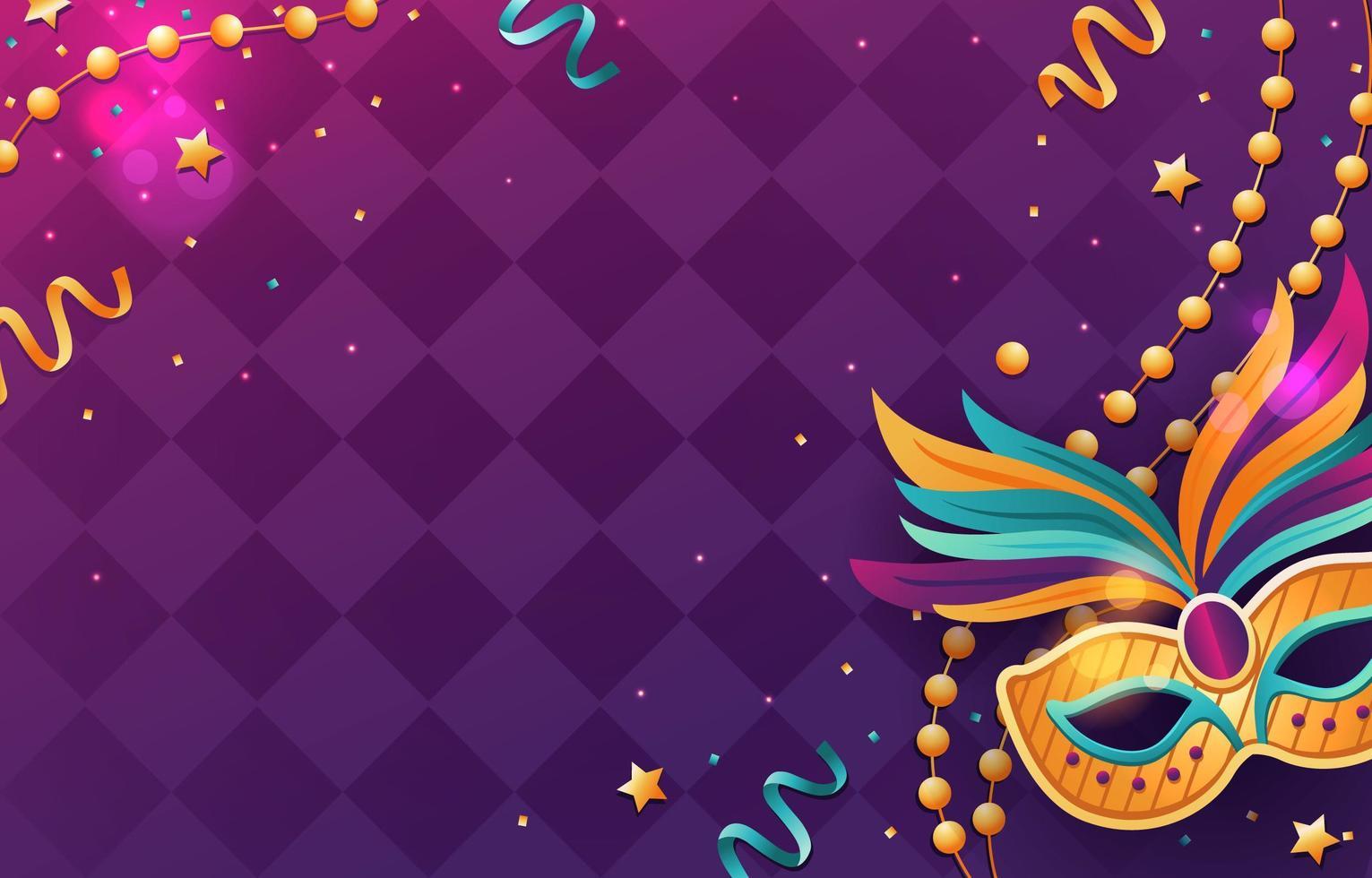 Mardi Gras Theme Background vector