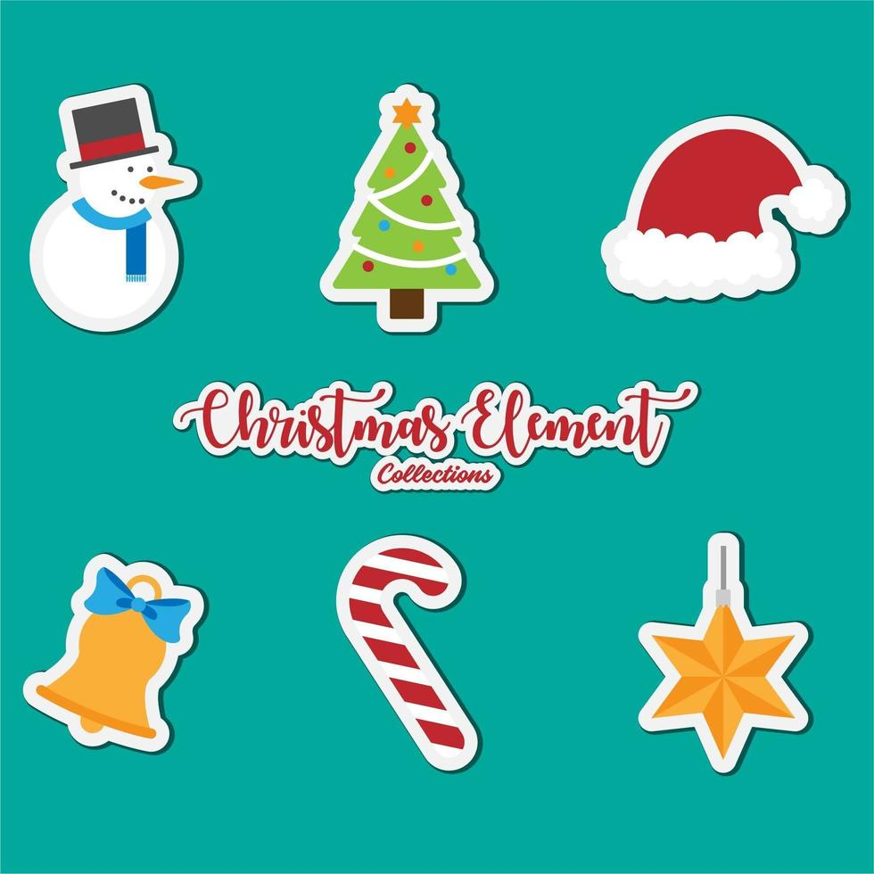 Christmas elements icon collection vector