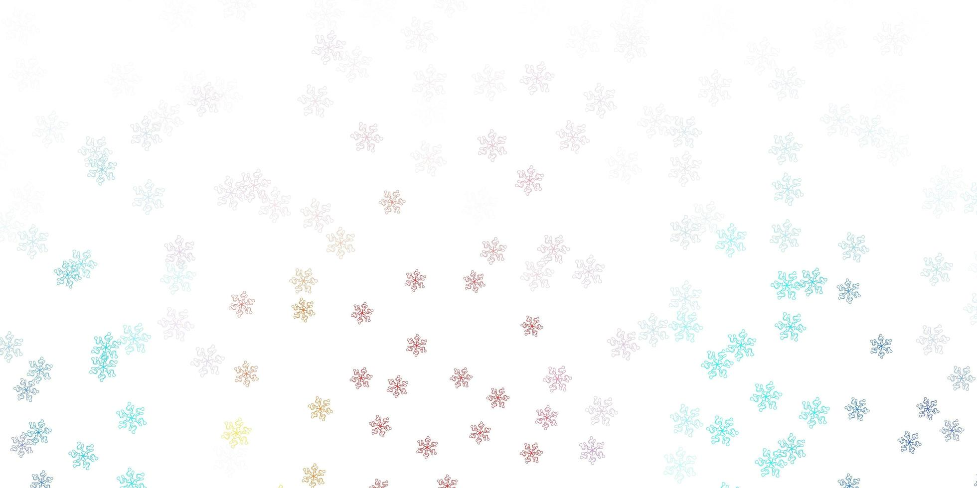 Light blue, red doodle texture with flowers. vector
