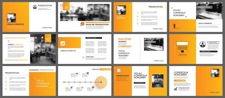 Presentation and slide layout vector