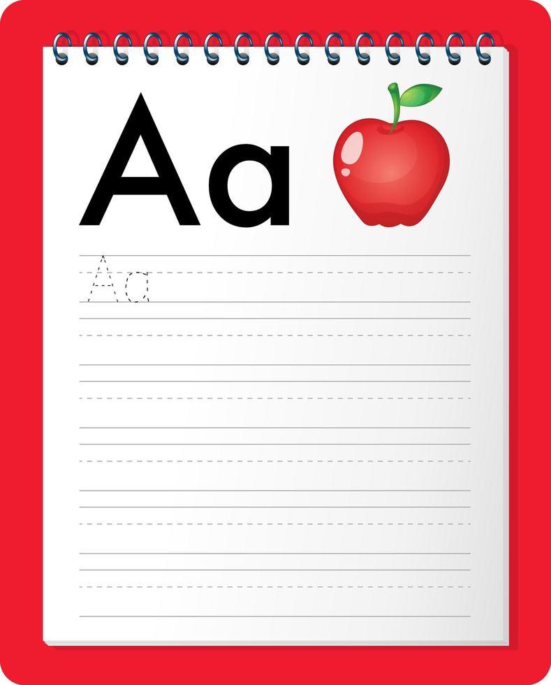 hoja de trabajo de rastreo alfabético con las letras ay a vector