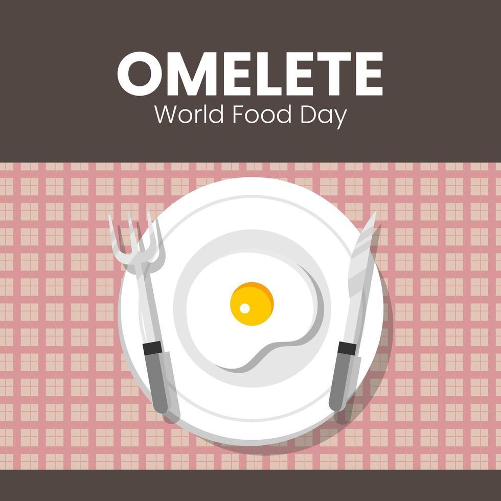 huevo del día mundial de la alimentación vector