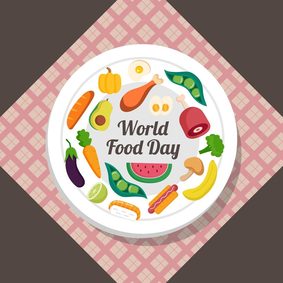 World food day plate vector