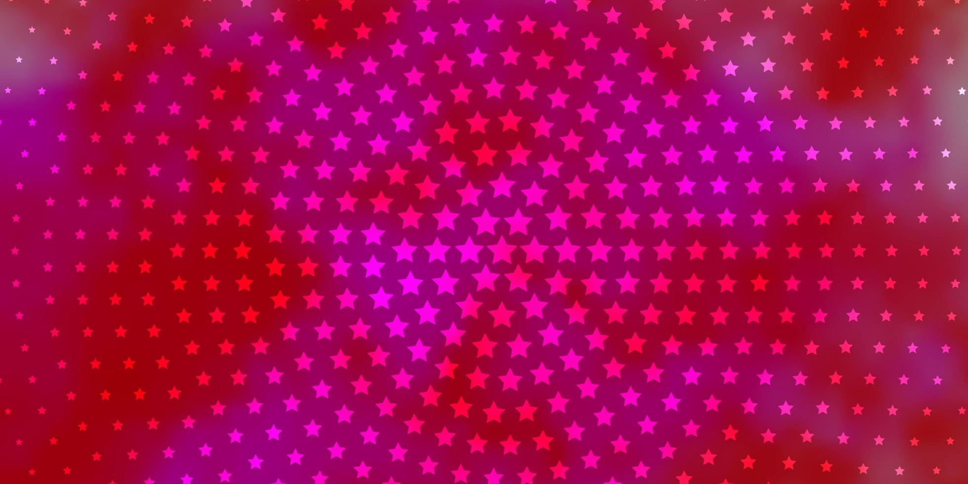 Red and pink texture with beautiful stars. vector