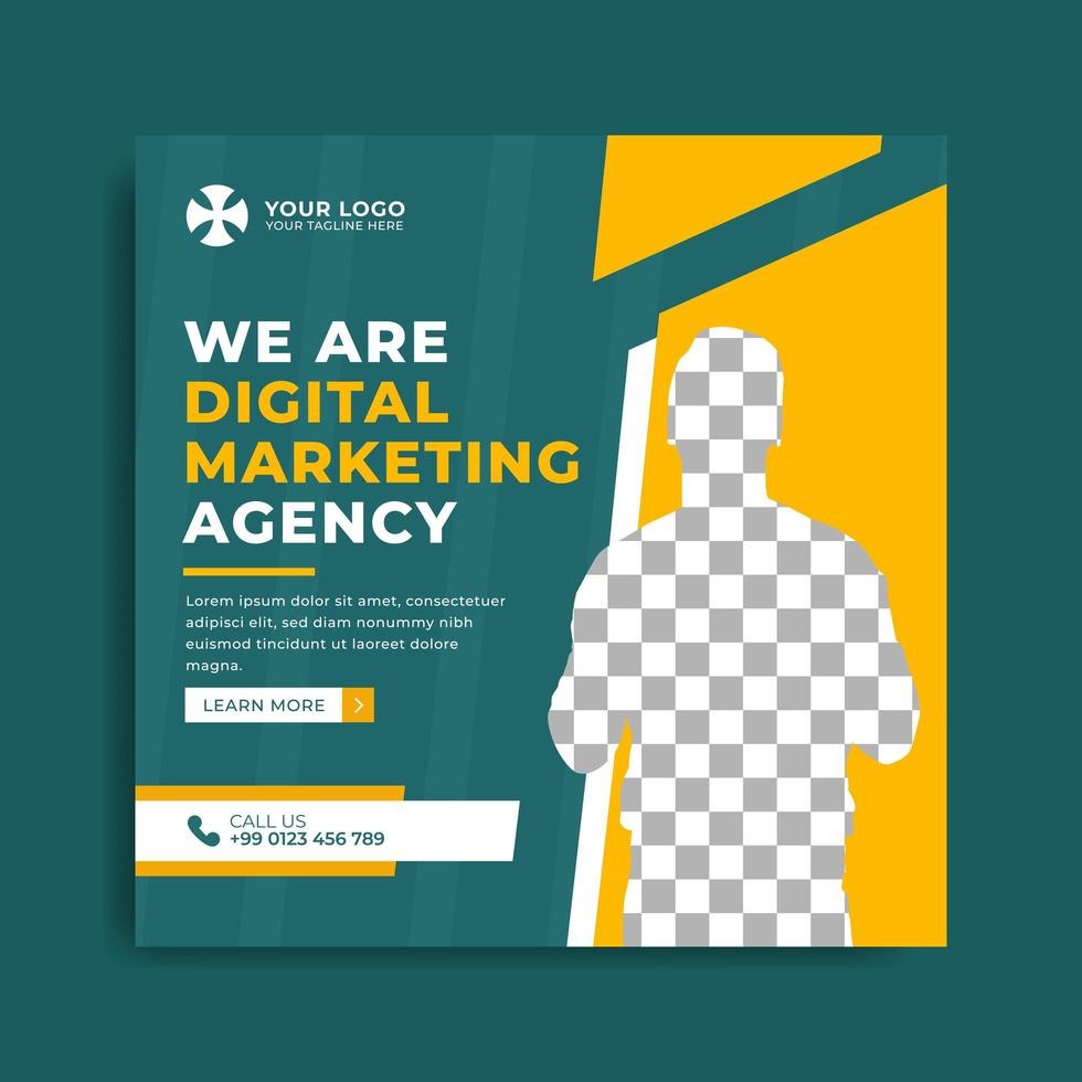 Set of marketing agency banner template vector