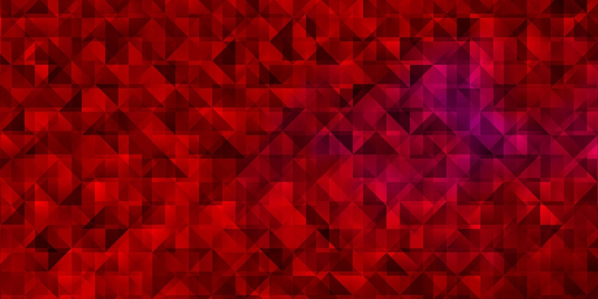 Red pattern with polygonal style. vector