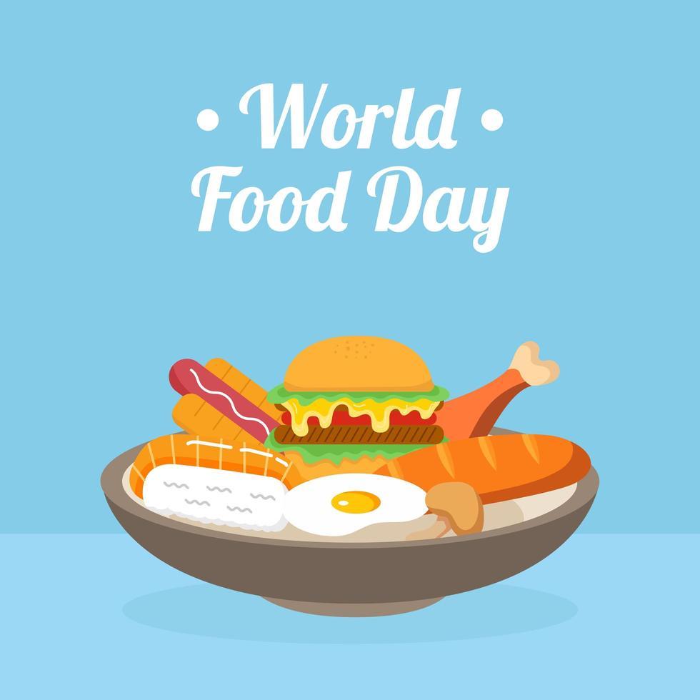dia mundial de la comida vector