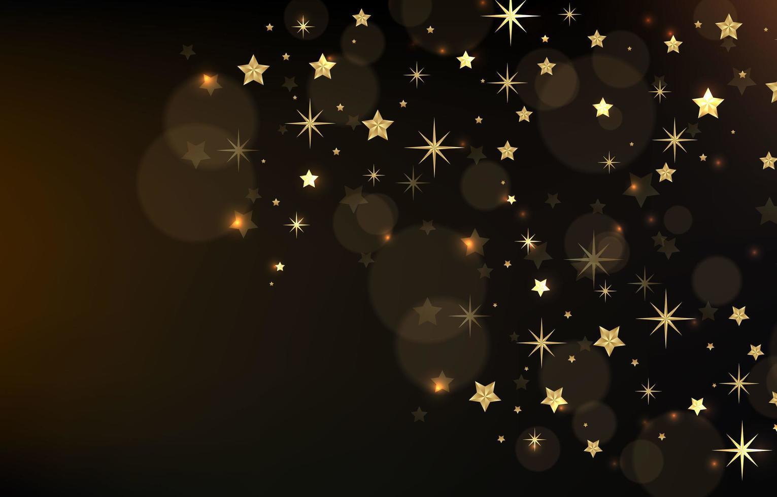 un grupo de estrellas en el cielo nocturno vector