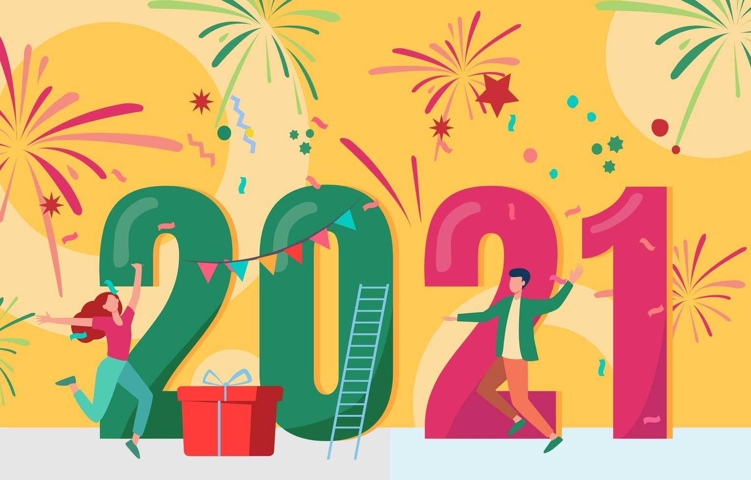 2021 New Year Celebration vector