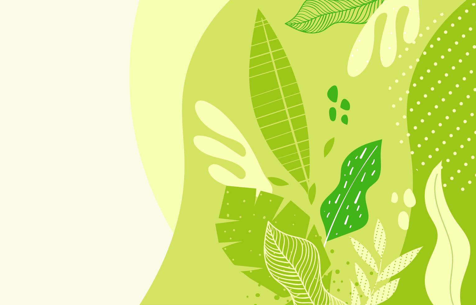 Nature Floral Green Background vector