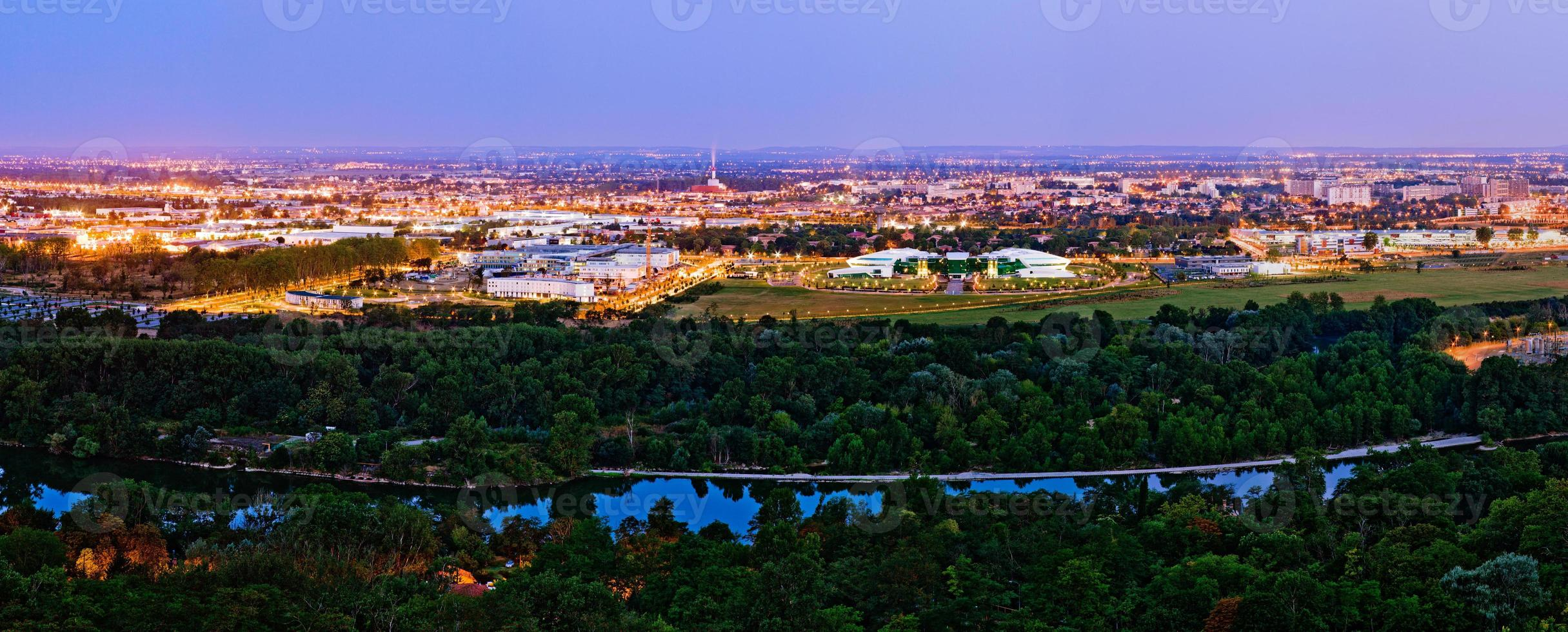 Sunrise view on Canceropole, Toulouse, France photo