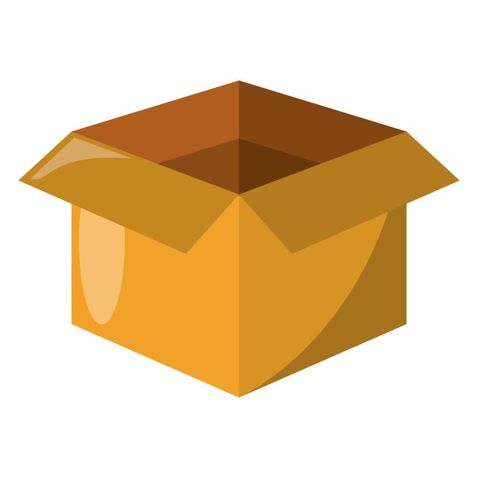 Cardboard box open delivery symbol vector