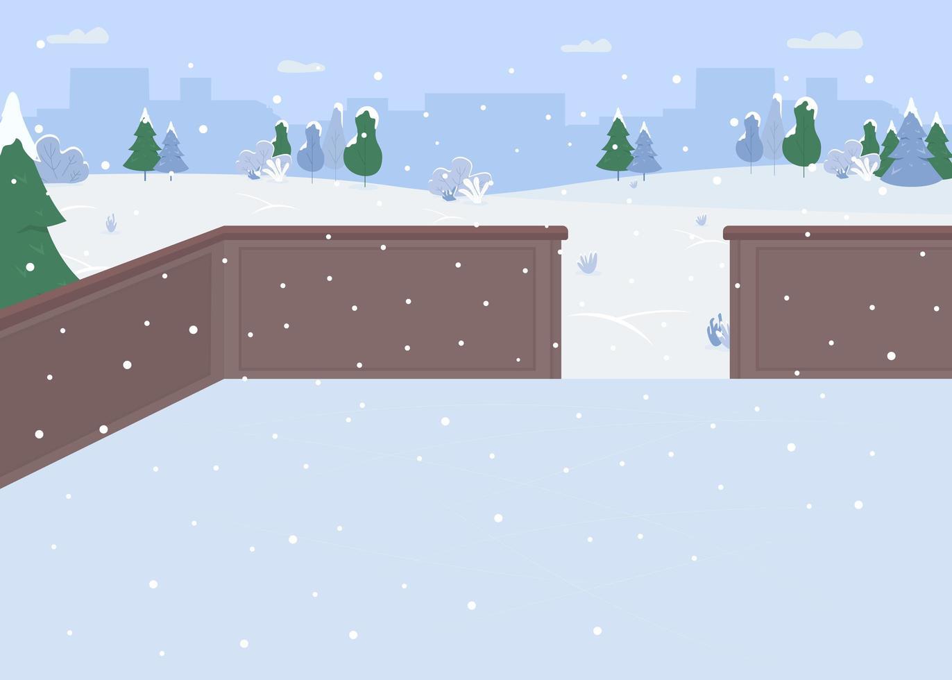 Ice skating rink vector