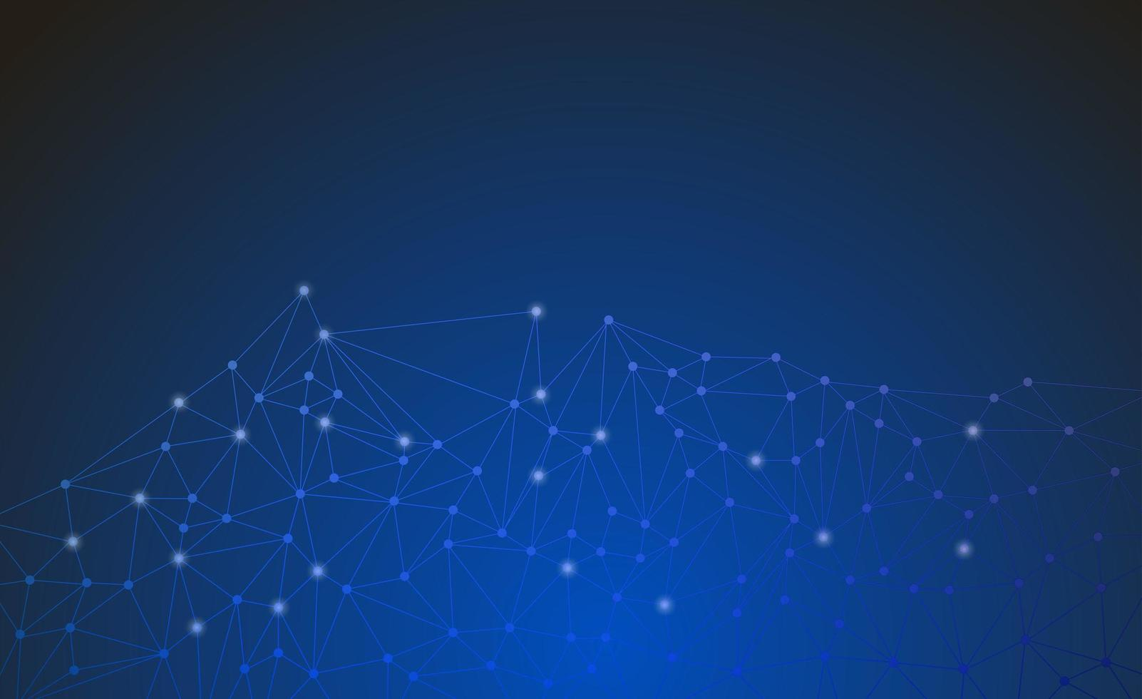 Blue network and technology background vector