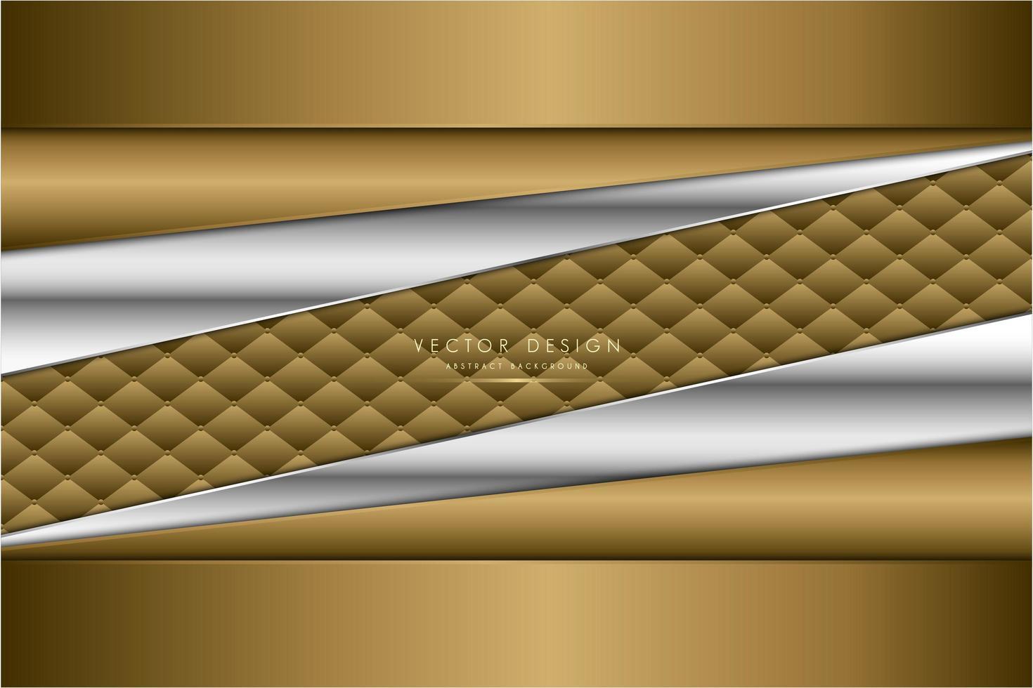 moderno fondo metálico plateado y dorado vector