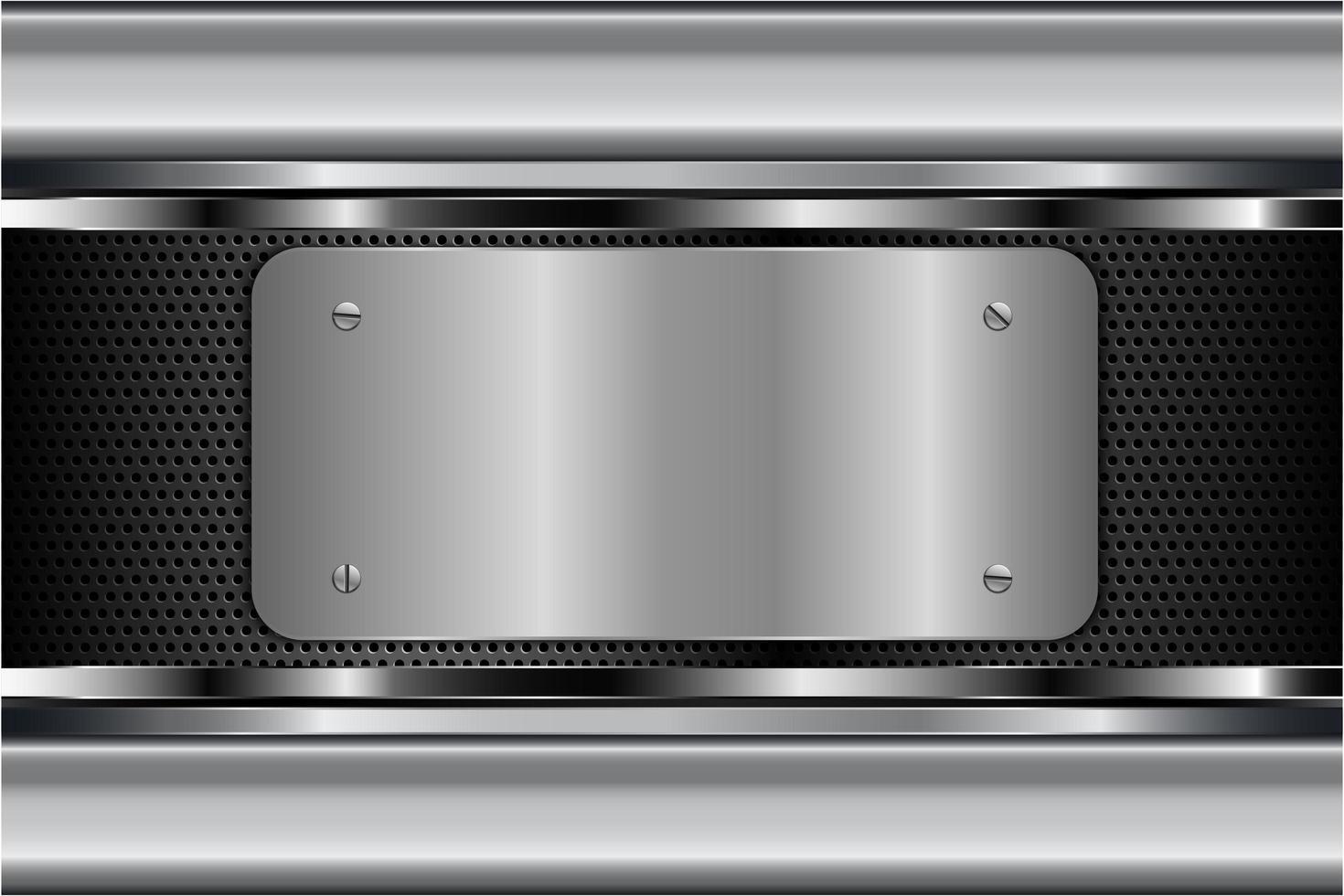 fondo metálico plateado moderno vector