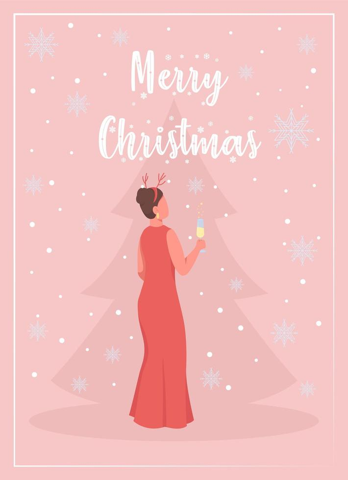 Celebrate Christmas greeting card vector