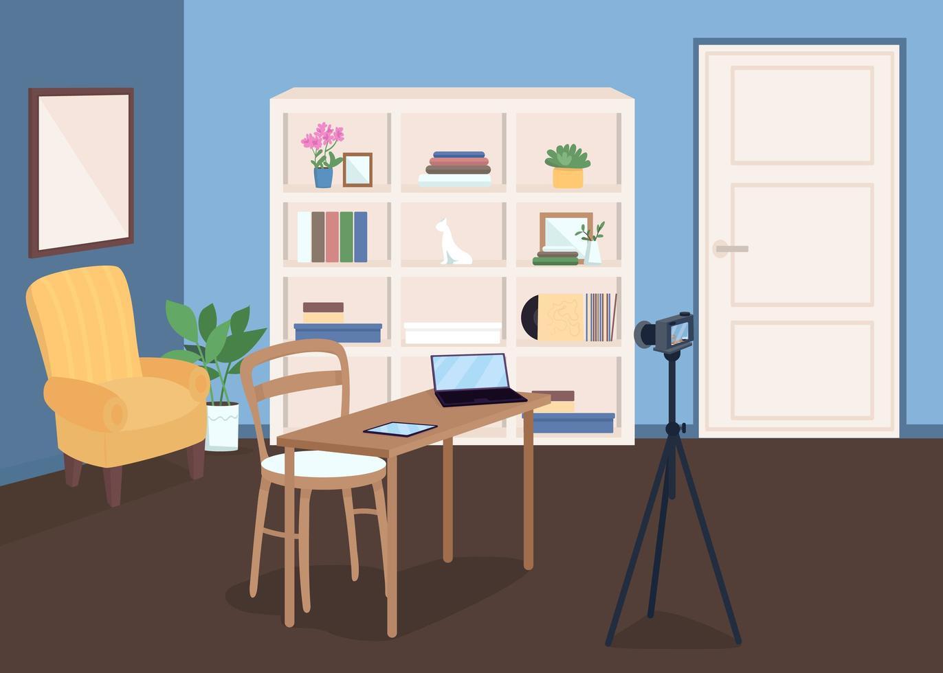 estudio para grabación de video vector