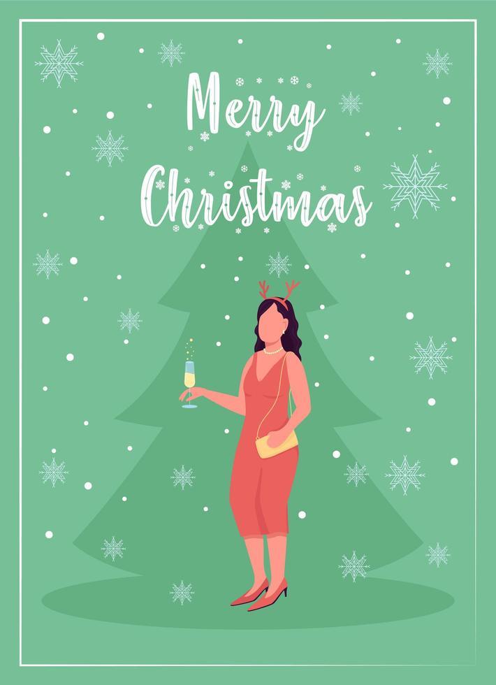 tarjeta de felicitación de celebración de fiesta de navidad vector