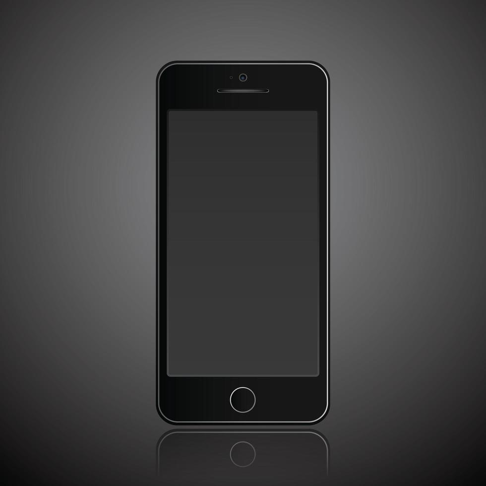 Mobile phone smartphone modern style vector