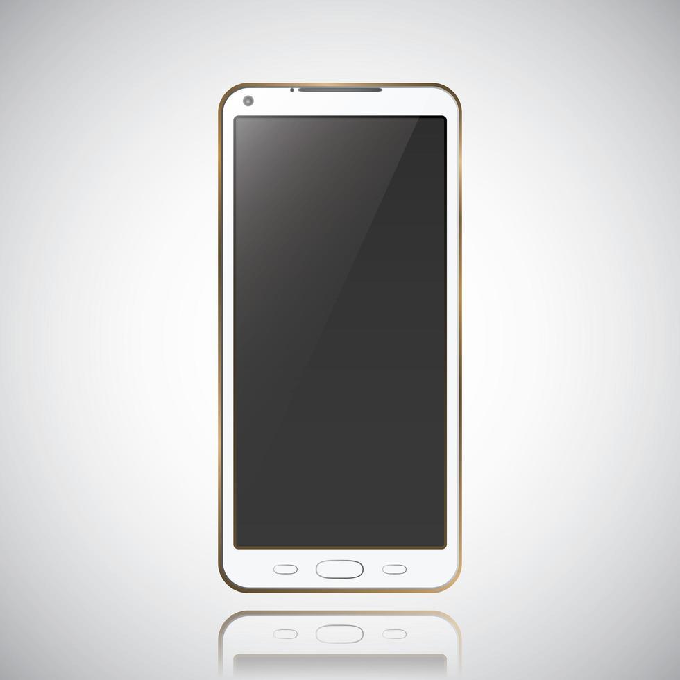 teléfono móvil smartphone estilo moderno vector