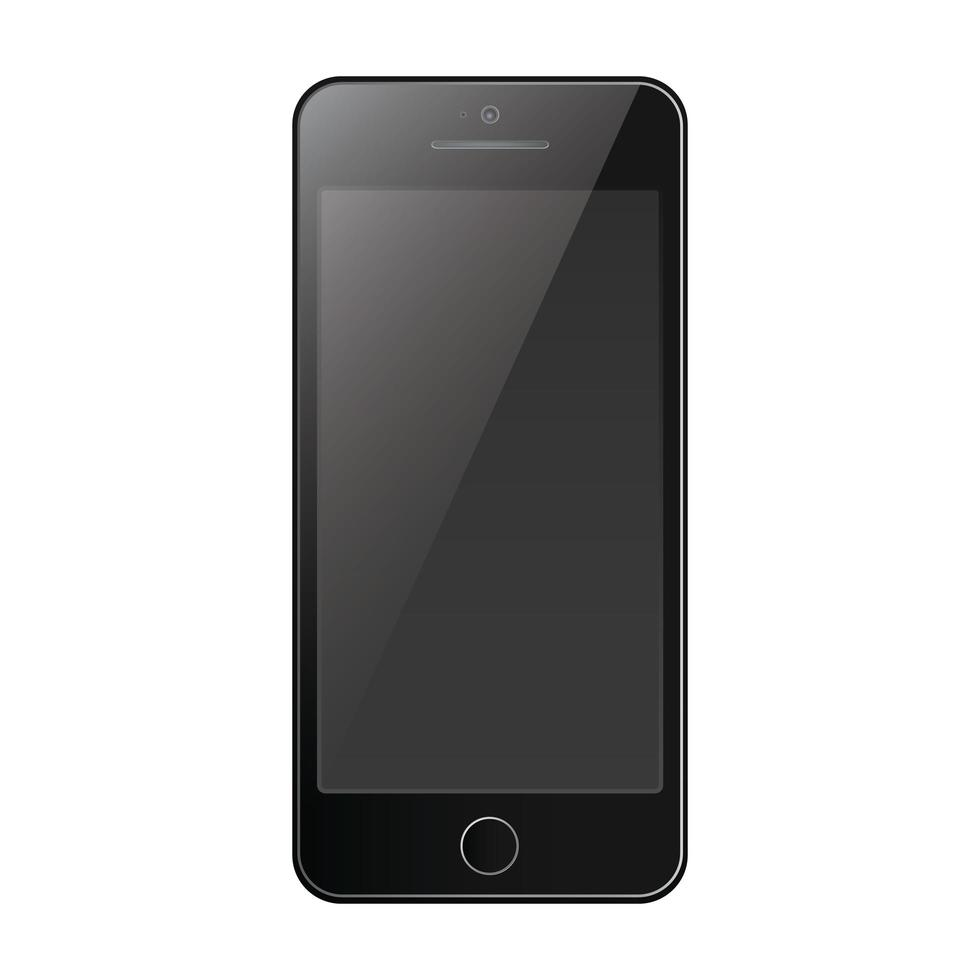 teléfono móvil smartphone estilo moderno aislado vector