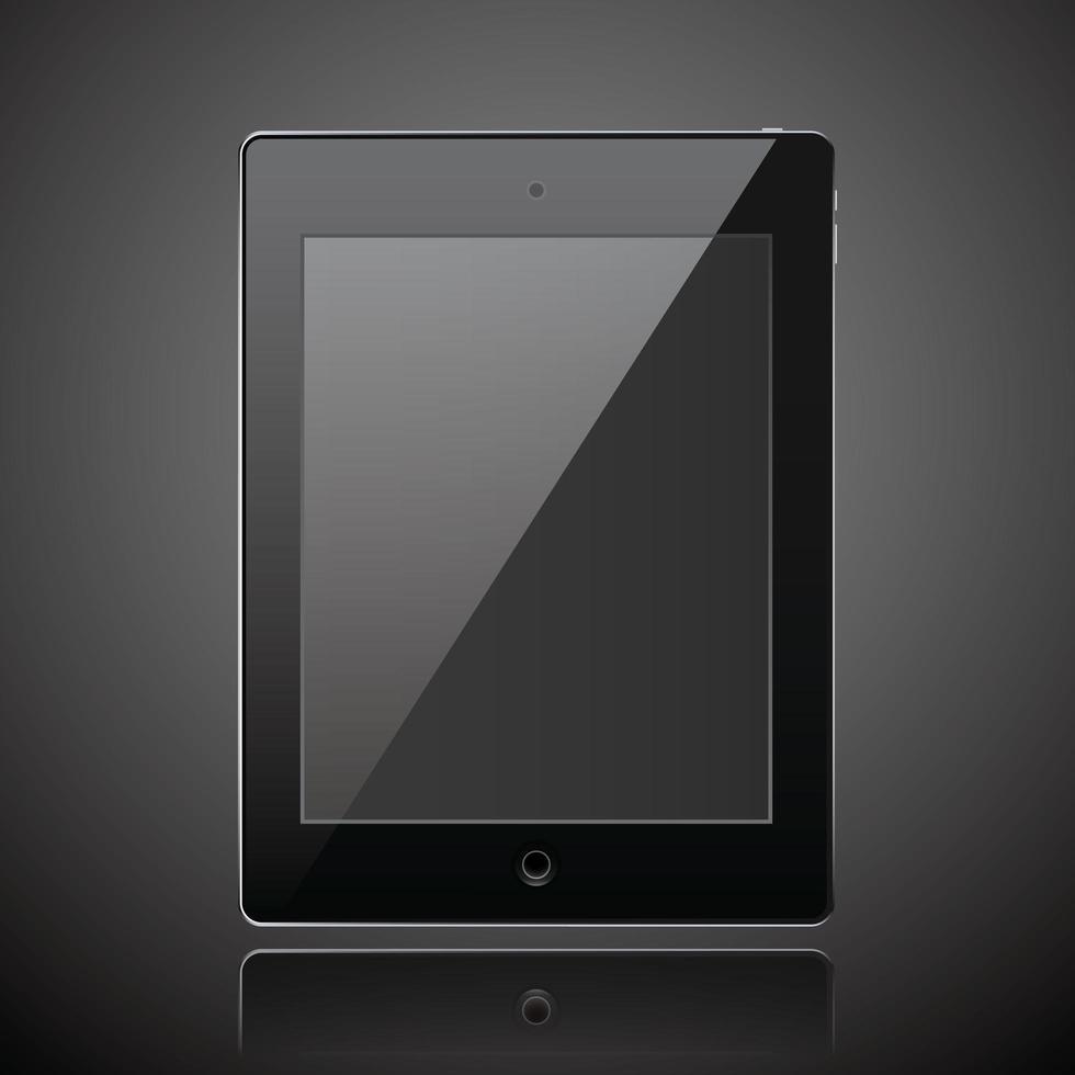 nueva tableta realista estilo moderno fondo oscuro vector