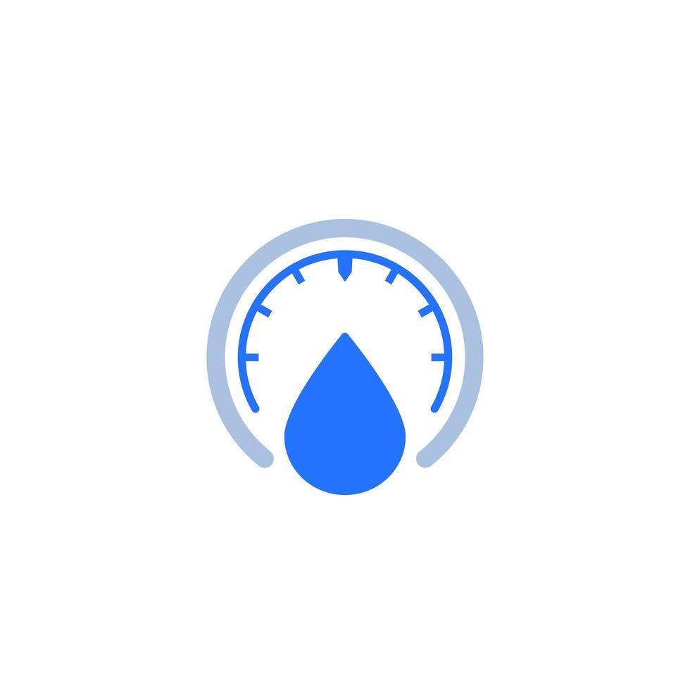 humedad, icono de medidor de nivel de agua vector