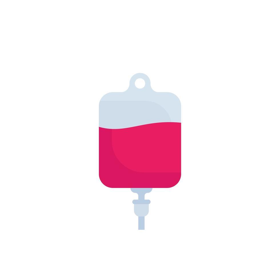 Iv bag, medical drip icon vector